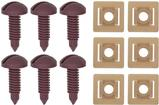 1982-92 Rear Hatch Screw And Nut Set Red