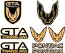 1987-90 TRANS AM GTA EMBLEM KIT BLACK