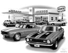 "Thom SanSoucie ""Flash Back Prints"" 11"" X 17"" 1968 Camaro Print"