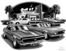"Thom SanSoucie ""Flash Back Prints"" 11"" X 17"" 1967 Camaro RS/SS and 1967 Convertible Print"