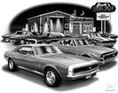 "Thom SanSoucie ""Flash Back Prints"" 11"" X 17"" 1967 Camaro RS/SS and 1967 RS/SS Print"