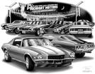 "Thom SanSoucie ""Flash Back Prints"" 11"" X 17"" 1970 Camaro Z28 Print"