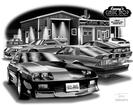 "Thom SanSoucie ""Flash Back Prints"" 11"" X 17"" 1992 Camaro RS and 1991 Camaro Z28 Print"