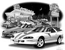 "Thom SanSoucie ""Flash Back Prints"" 11"" X 17"" 1997 Camaro SS 30th Anniversary Edition Print"