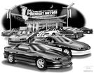 "Thom SanSoucie ""Flash Back Prints"" 11"" X 17"" 1995 Camaro SS and 1993 Camaro Z28 Pace Car Print"