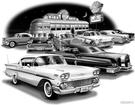 "1958 Impala Hardtop ""Flash Back print"""