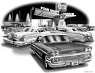"1958 Impala Convertible ""Flash Back print"""