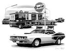 1970-73 PLYMOUTH  'CUDA FLASH BACK PRINT (1971 440 FEATURED)