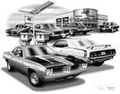 1972-74 PLYMOUTH BARRACUDA / 'CUDA FLASH BACK PRINT (1974 BARRACUDA AND 72 'CUDA FEATURED)