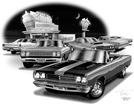 1968-69 PLYMOUTH ROAD RUNNER FLASH BACK PRINT (1969 MODEL FEATURED)