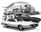 1969-70 SUPERBIRD / DAYTONA FLASH BACK PRINT AT MOBIL STATION