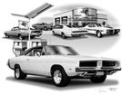 1966-74 DODGE CHARGER FLASH BACK PRINT (1969 R/T FEATURED)