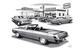 1966-71 Dodge Dart Flash Back Print (1971 Gt Model Featured)