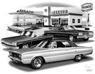 1965-67 DODGE CORONET FLASH BACK PRINT (1967 R/T FEATURED)