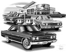 1967 Plymouth Belvedere / Gtx Flash Back Print (1967 Model Featured)