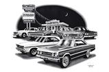 1964-67 Plymouth Belvedere / Gtx Flash Back Print (1965, 1967 Models Featured)