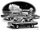 1964-65 Plymouth Fury Flash Back Print' (1964 Sport Fury Featured)
