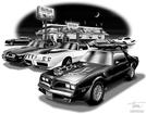 1977, 78 & 79 Trans Am print (Features 1979,1978T/A & 1977 Trans Am)