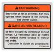 1997-00 Mustang Fan Warning Decal