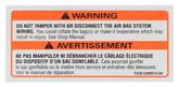 1994-95 Mustang Air Bag Warning Decal