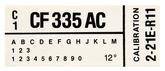 1982 Mustang 302 GT Without AC Engine Code Decal