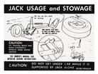 Early 1971 Mustang Fastback Jack Instruction Decal