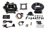 FiTech Go EFI 4 Self Tuning Fuel Injection 600HP Matte Black Finish - Master Kit w/ Inline Fuel Pump