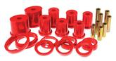 1979-98 Mustang Prothane Rear Control Arm Bushings Without Shells Front Lower Oval - Red