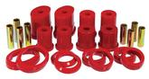 1999-04 Mustang Prothane Rear Control Arm Bushings Without Shells Front Lower Oval - Red