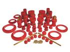 1979-82 Mustang Prothane Complete Body Bushing Set Without Transmission Mount - Red