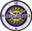 "12"" Super Chevrolet Service Clock"