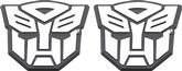 TRANSFORMERS AUTOBOT LOGO PLASTIC BADGES - 2 PCS
