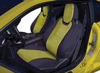 2016-17 Camaro Coupe - Neosupreme Front Seat Covers with Houndstooth Inserts - Black / Yellow(Pair)