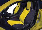 2010-15 Camaro Coupe - CR-Grade Neoprene Front Seat Covers - Black / Yellow (Pair)