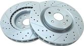 2010-12 CAMARO SS CROSS DRILLED-SLOTTED  FRONT SPORT ROTORS