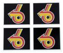 1984-86 Buick T-Type Door Strap Covers - Power 6 Color Logo