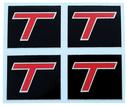 1984-86 Buick T-Type Door Strap Covers - T-Type Color Logo