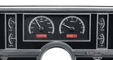 1984-87 Buick Regal Dakota Digital VHX Gauge System Red Display with Black Alloy Face