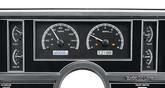 1984-87 Buick Regal Dakota Digital VHX Gauge System White Display with Black Alloy Face