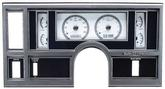 1984-87 Buick Regal  Dakota Digital VHX Gauge System - White Display with Silver/Grey Alloy Face