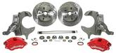 1979-87 Red Caliper Set with Stock Height Spindles - Wilwood - D154