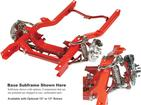 "1970-81 Heidts Subframe with Power Rack, 11"" Smooth Rotors, 4 Piston Black Calipers, 1"" Sway Bar"
