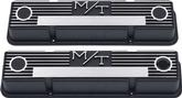 Chevrolet Small Block Holley Satin Black Finish Aluminum M/T Valve Covers