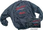 "Black Satin Jacket With ""Heartbeat Of America"" Logo And ""Nova"" Script (4Xl)"