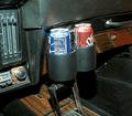 1969-72 PLUG N CHUG CUP HOLDERS  (BLACK)
