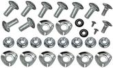 1965-68 Mustang Bumper Bolt Mounting Kit  Front & Rear (28 pcs)