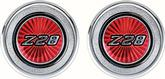 1977-79 INTERIOR DOOR PANEL EMBLEMS - RED Z28 - PAIR