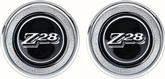 1977-79 INTERIOR DOOR PANEL EMBLEMS - BLACK Z28 - PAIR