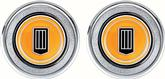 1979-81 INTERIOR DOOR PANEL EMBLEMS - ORANGE BADGE - PAIR