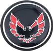 1976-81 Firebird Shift Button Emblem-Black With Red